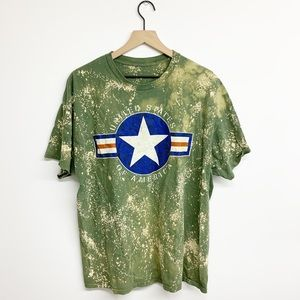 USA Oversized Bleached Graphic T Shirt